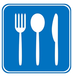 Food item road sign vector image