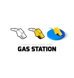 Gas station icon in different style vector image
