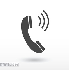 Phone flat Icon Sign Phone logo for web design vector image vector image