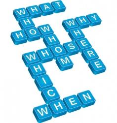 questions crossword vector image