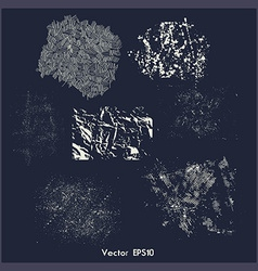 Set of different grunge textures vector image