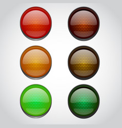 traffic lights isolated on white vector image