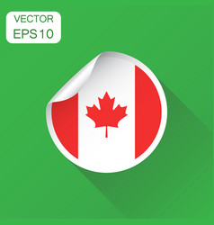 canada sticker flag icon business concept canada vector image