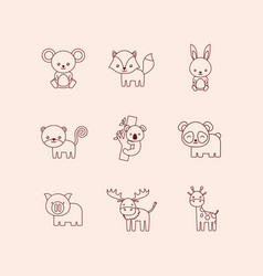 cute animals design vector image vector image