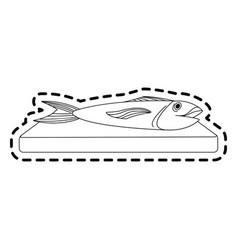 Fish food icon image vector