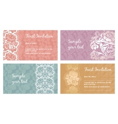 lace flower greeting card vector image vector image