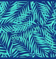 natural seamless pattern with green tropical palm vector image vector image