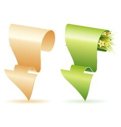 paper arrow vector image vector image