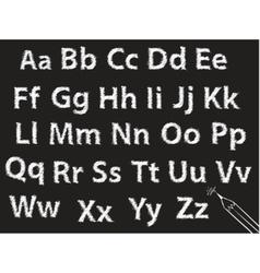 pencil or charcoal chalk alphabet letter set vector image