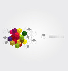 abstract background with color cubes vector image