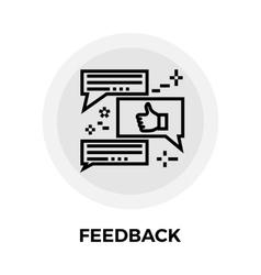 Feedback Line Icon vector image vector image