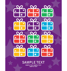 greeting card gift vector image vector image