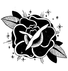 Roses Tattoo Sketch vector image vector image