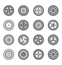 Set of wheel rims vector image vector image