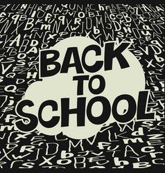 back to school colorful poster with stars comic vector image vector image