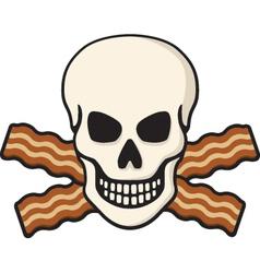 bacon skull vector image