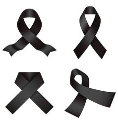 Black ribbons vector image