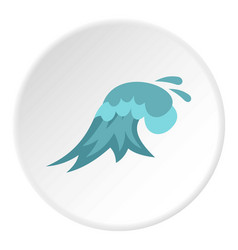 Clear wave icon circle vector