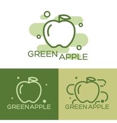 Green apple - logo vector image vector image