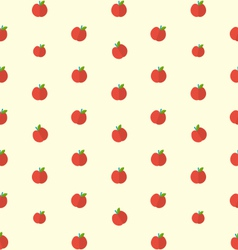 Seamless Texture with Bright Apples Food vector image vector image