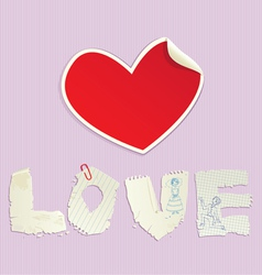 Valentines Day scrapbooking elements vector image