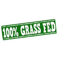 100 percent grass fed stamp vector