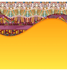 Abstract background with elements of Tribal vector