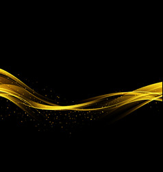 Abstract digital art background with gold line vector