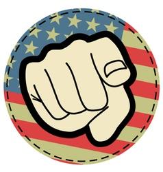 American point symbol vector image vector image