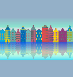amsterdam city day vector image