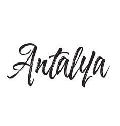 Antalya text design calligraphy vector