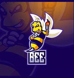 Bee e-sport vector