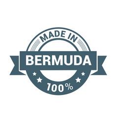 bermuda stamp design vector image