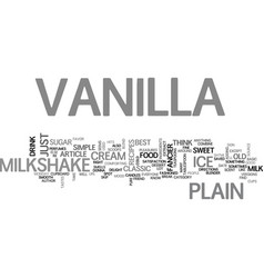 Best recipes classic vanilla milkshake text word vector