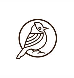 bird mono line logo vector image