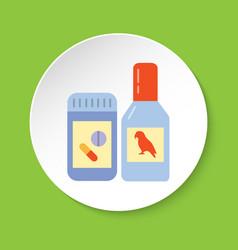 bird vitamin or medicine icon in flat style vector image