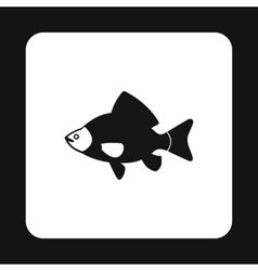 Black fish icon simple style vector image
