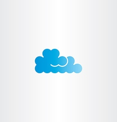 Blue cloud icon logo element vector
