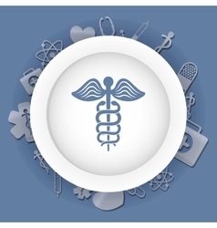 Caduceus Medical first aids vector