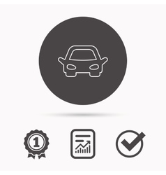 Car icon Auto transport sign vector image
