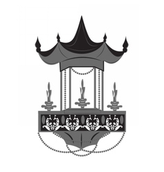 Chinese style lamp lighting vector