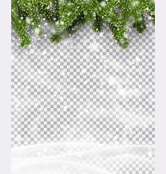 Christmas and new year poster with green fir vector