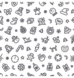 Christmas Symbols Seamless Pattern vector