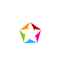 color star logo icon design vector image