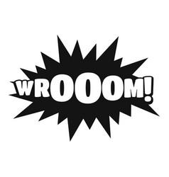 Comic boom sticker icon simple black style vector
