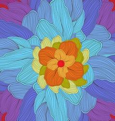 Doodle florals art background vector