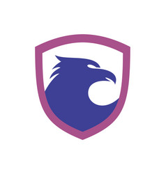 eagle shield icon logo concept vector image