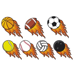 Fire ball collection vector