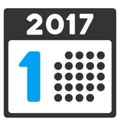 First 2017 Day Flat Icon vector