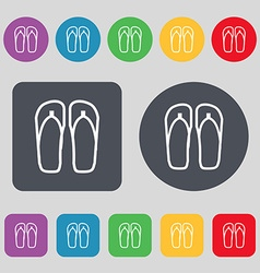 Flip-flops Beach shoes Sand sandals icon sign A vector